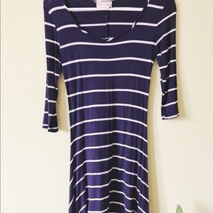 Navy Blue Striped Dress (XS/S)
